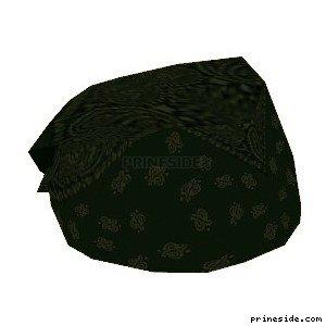 Black bandana (Bandana8) [18898] on the light background