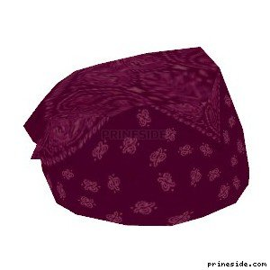 Burgundy bandana (Bandana9) [18899] on the light background