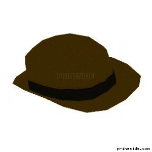 Bright hat with black stripe (HatBowler5) [18951] on the light background