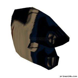 Dark helmet (MotorcycleHelmet2) [18976] on the light background