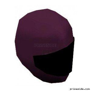 Helmet motorcycle purple color with black visor (MotorcycleHelmet5) [18979] on the light background