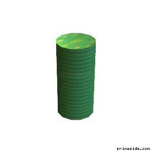Стопка зеленых фишек из казино (chip_stack08) [1902] на светлом фоне