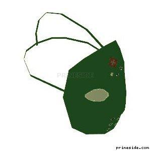 Green hockey mask (HockeyMask3) [19038] on the light background