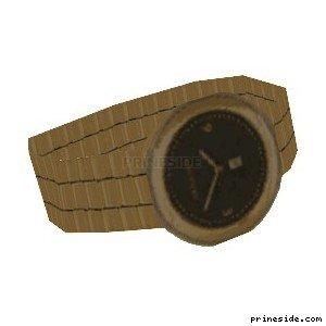 Golden, wrist watch  (WatchType4) [19042] on the light background