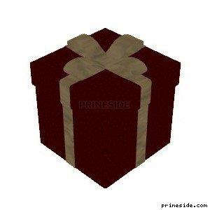 Красная коробка с рождественскими подарками (XmasBox1) [19054] на светлом фоне