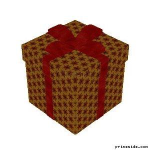 Коробка с рождественскими подарками (XmasBox2) [19055] на светлом фоне