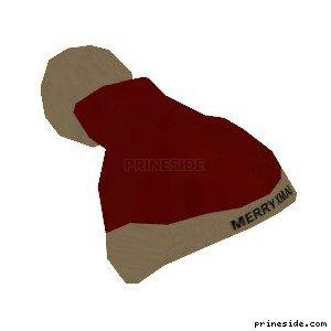 Новогодняя шапка с надписью Merry Xmas (SantaHat2) [19065] на светлом фоне