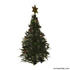 Рождественская елка (XmasTree1) [19076] на светлом фоне