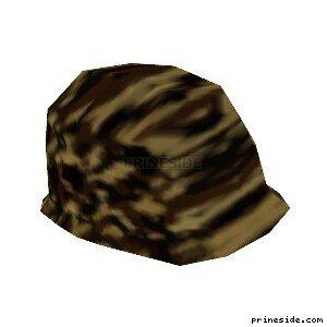 Шлем цветом лесного камуфляжа (ArmyHelmet8) [19108] на светлом фоне