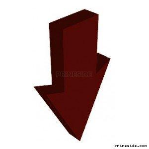 Пикап красной объемной стрелки, которая смотрит вниз (ArrowType4) [19133] на светлом фоне