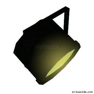 Желтый прожектор, который постоянно светится (PinSpotLight1) [19143] на светлом фоне