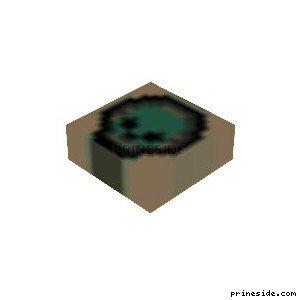Маркер для карты в виде синего черепа (MapMarker23) [19223] на светлом фоне