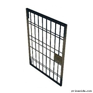 Door grille for prison cell (pd_jail_door01) [19302] on the light background
