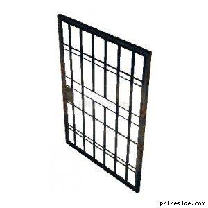 Prison metal lattice door (pd_jail_door02) [19303] on the light background