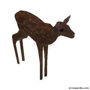 Олень (deer01) [19315] на светлом фоне