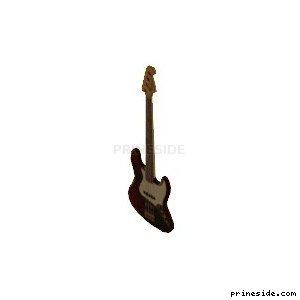 Темная электрогитара (bassguitar01) [19317] на светлом фоне