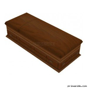 Wooden coffin (coffin01) [19339] on the light background