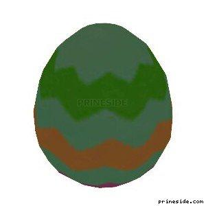 Easter egg green (easter_egg03) [19343] on the light background