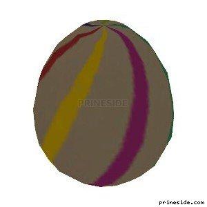 Белое яйцо с полосками (easter_egg05) [19345] на светлом фоне