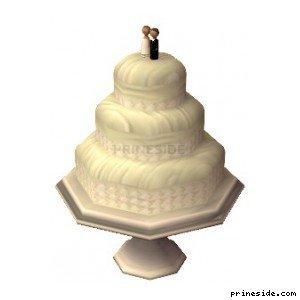 Большой свадебный торт (WeddingCake1) [19525] на светлом фоне