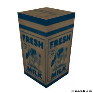 The packet of milk (MilkCarton1) [19569] on the light background