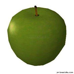 Зеленое яблоко (Apple2) [19576] на светлом фоне