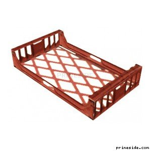 Red plastic pallet (PlasticTray1) [19587] on the light background