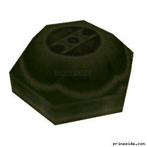 Зеленая противопехотная мина (Landmine1) [19602] на светлом фоне