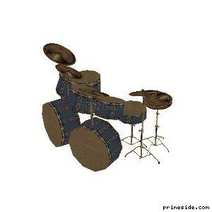 Drum set blue (DrumKit1) [19609] on the light background
