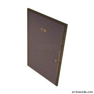 Сплошная дверь темно-фиолетового цвета (MIHouse1Door4) [19860] на светлом фоне