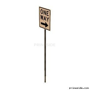 Traffic sign one-way traffic (SAMPRoadSign24) [19971] on the light background