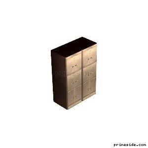 Офисный шкаф с ящиками для документов (filing_cab_nu01) [2007] на светлом фоне