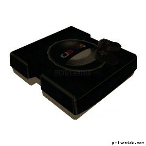 Black game console with joystick (SWANK_CONSOLE) [2028] on the light background