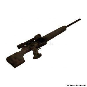 Испорченная ржавая снайперская винтовка (CJ_psg1) [2036] на светлом фоне