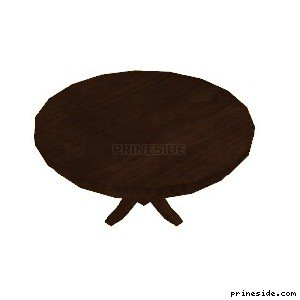 Round wooden table (LOW_DINNING_5) [2111] on the light background