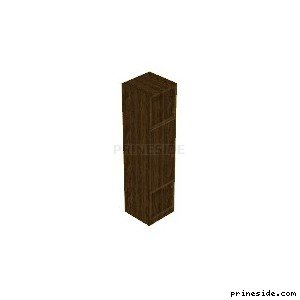 Narrow wooden Cabinet for clothes (CJ_K3_UNIT06) [2145] on the light background
