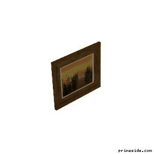 Picture in a frame with a picture of a forest at sunset (Frame_Thick_4) [2282] on the light background