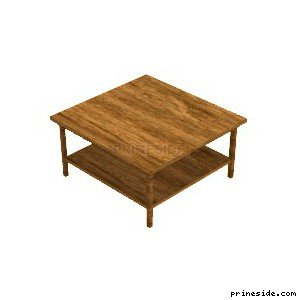 Wooden coffee table from the store (Shop_set_1_Table) [2370] on the light background
