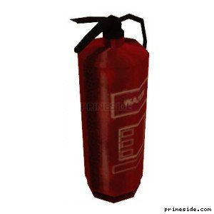 The fire extinguisher (CJ_FIRE_EXT) [2690] on the light background
