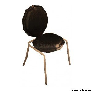 Metal chair with soft upholstery (LEE_stripCHAIR2) [2776] on the light background
