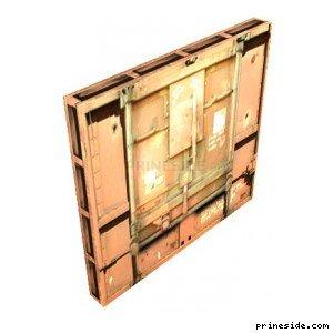 Титановые ворота военной базы (a51_intdoor) [2928] на светлом фоне