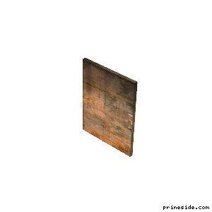 Rusty metal door (kmb_gimpdoor) [2952] on the light background