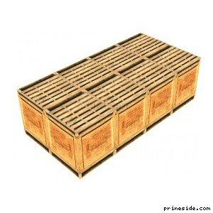 Several wooden square boxes forming the smooth surface (imy_bbox) [2991] on the light background