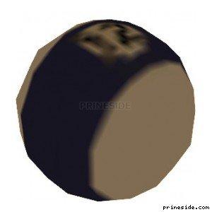 Бильярдный шар с фиолетовой полосой и номером 12 (k_poolballstp04) [2998] на светлом фоне