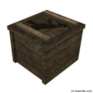 A wooden weapons box, on which is drawn a machine (cr_guncrate) [3014] on the light background