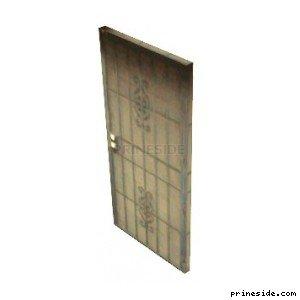Input white door with grille (ad_flatdoor) [3061] on the light background