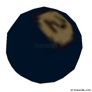 Blue ball for Billiards number six (k_poolballspt02) [3100] on the light background