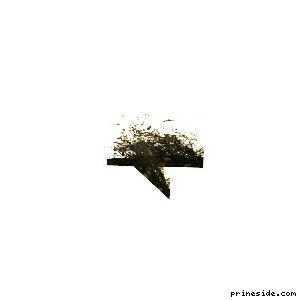 Небольшой куст с цветами (vgsN_flwrbdsm) [3520] на светлом фоне