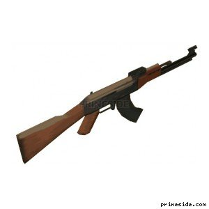 7.62 mm Kalashnikov assault rifle AK-47 (ak47) [355] on the light background
