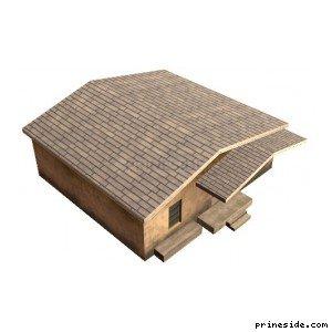 Одноэтажный светлый жилой дом (nwccumphus1_LAS) [3634] на светлом фоне